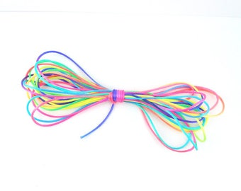 5 m cord polyester yarn multicolored 1.5 mm (35A)