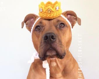 Dog Crown, Royal Wedding, Dog Hat, Max Crown, Photo Prop, Dog Tiara, Dog Party Hat, Gotcha Day Hat, Gold Dog Crown, Cat Crown