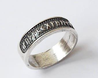 Rune ring, Futhark ring, Elder Futhark, Rune jewelry, Viking ring, Viking jewelry, Runes, Runic jewelry, Rings, Nordic jewelry, Norse rings
