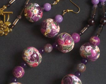 Gorgeous floral beads and pearls in wild colors