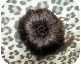 Balayage Dip Dye 8A Remy Human Hair ClipIn Buns Colour 4 Medium Brown 100% Human  Hair Extensions