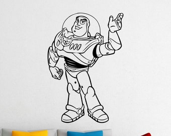 Buzz Lightyear Toy Story Wall Vinyl Sticker Woody Jessie Disney Cartoon Vinyl Decal Home Kids Room Nursery Art Decor Design Mural (233a)