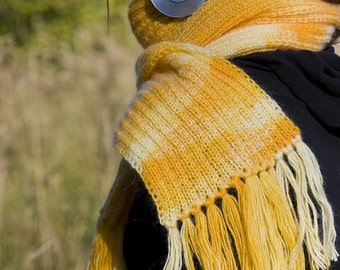 Knitted scarf - Mustard Yellow