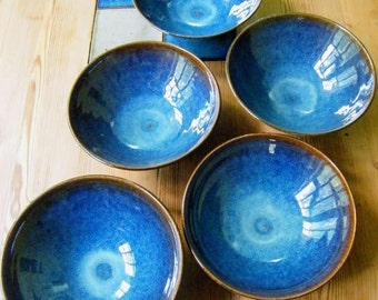 Sea Blue glazed Ceramic Bowl  - KITCHEN 'MUST-HAVE'