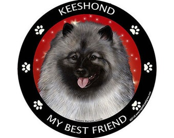 Keeshond My Best Friend Dog Magnet