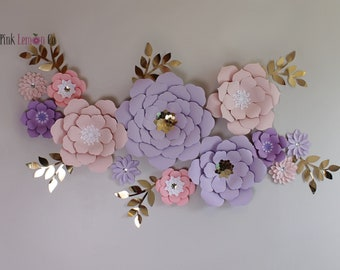 Superior Nursery Decor Name Sign Girl Nursery Wall Decor 3D Paper Flowers Baby  Shower Nursery Decor Flower Backdrop Giant Paper Flowers Nursery