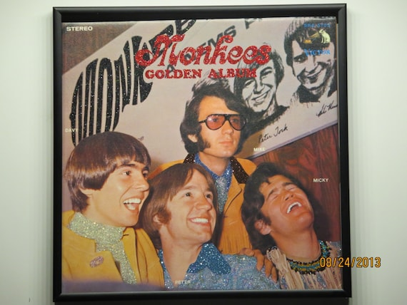 Glittered Record Album - Monkees Golden Album - NOTE: This album is from Japan and written in Japanese