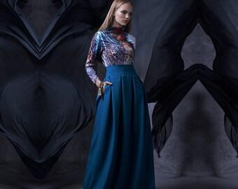 Plus Size Clothing, Trendy Skirt, Green Long Skirt, Gypsy Skirt, Bridesmaid Dress, Women Long Skirt, Evening Skirt, Fashion Long Skirt