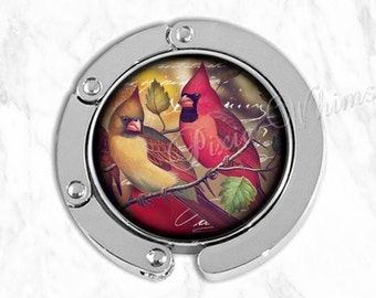 CARDINAL Purse Hook Hanger Holder, Red Cardinal Bird Bag Hook, Purse Accessory Handbag Hanger Tote Bag Hanger Bridesmaid Gift Favor