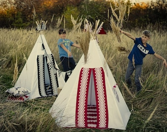 Teepee Folk red II.