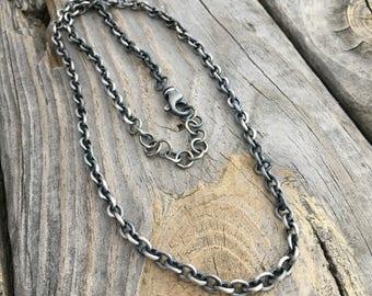 Sterling Silver Chain Necklace Wild Prairie Silver Jewelry By Joy Kruse