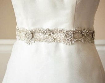 Wedding sash belt  - Zcacia 18 inches (Made to Order)