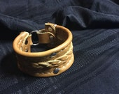 Handmade leather cuff in ...