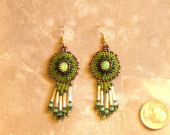 Green Chrysoprase Earrings #1
