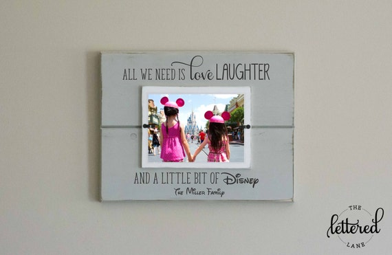 Disney Picture Frame Personalized Family Frame Christmas