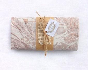 Rose gold pocket square. Rose gold handkerchief. Groom's pocket square. Groomsmen pocket square gift