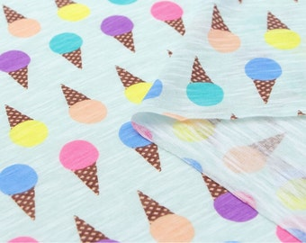 Slub Knit Fabric Icecream Mint By The Yard