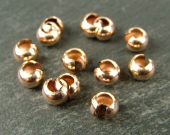 Rose Gold Filled Crimp Cover 4mm
