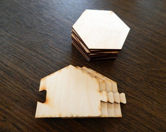 Catan Expansion Set - Borders and Hexes - Unfinished and Ready to Paint - Awesome Gamer Gift