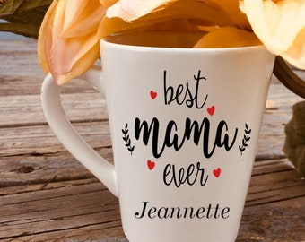 Best Mama Ever 2 Personalized Mother's Day Mug 14 oz