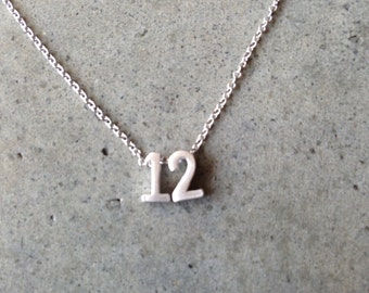 Number necklace, silver numbers, number jewelry, personalized, personalized jewelry, custom jewelry