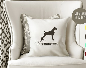 Personalized Weimaraner Pillow Cover