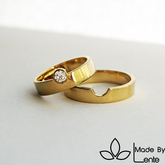 we perfectly fit together wedding rings diamond 14k