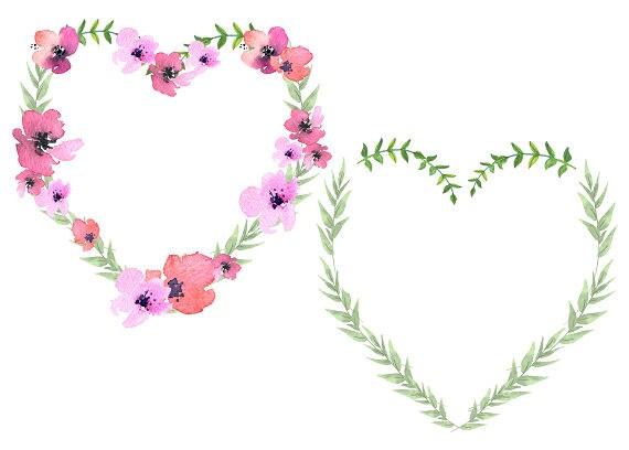 Heart wreath floral heart clipart flower heart mothers day nursey heart wreath floral heart clipart flower heart mothers day nursey floral heart watercolor heart pink and green heart mightylinksfo