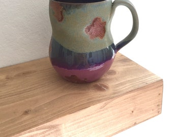 Coffee mug, birthday gift for her, handmade pottery mug, gift under 40, coffee lover, mom, sister, grandma, girlfriend, coworker, rustic