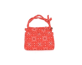 BANDANA paisley quilted 50s 60s PURSE hand bag
