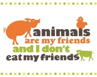 Animal Friendly Vegetarian/Vegan Poster Art