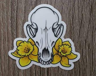 Skullflower Waterproof Vinyl Decal