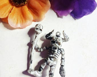 Charm (x 1) Acrylic skeleton Warrior