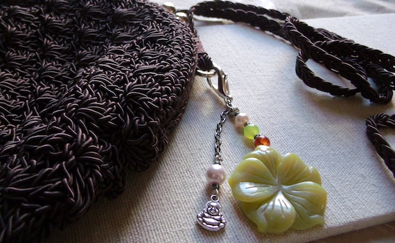 Green jade zipper pulls - yoga - zen accessory - tote clip art - buddha - lotus charms -  relaxation - purse charms - Lizporiginals