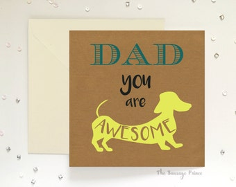 Dad You are Awesome, Father's day greeting card, 148mm x 148mm