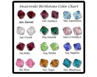 Add a Swarovski crystal birthstone