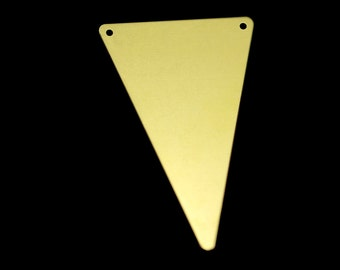 10 pcs 50x33 mm raw brass triangle tag 2 hole connector raw brass charms ,raw brass findings 795RT-55