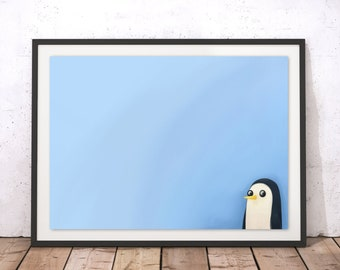 Adventure Time's Gunter - Minimalist Art Print Poster - (Available In Many Sizes)