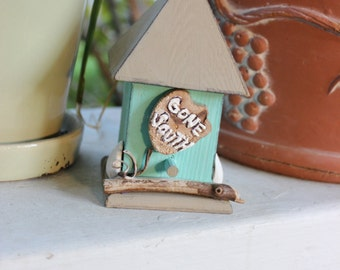Gone South Holiday Bird House Hand Painted Beach Christmas Decoration Rustic / Coastal Decor for Snowbirds