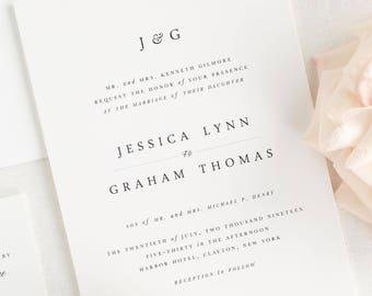 Jessica Wedding Invitations - Sample