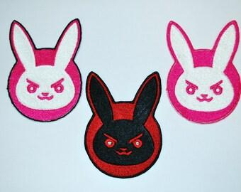 Overwatch D.Va Bunny Emblem Cosplay Costume Patch