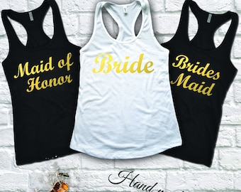 Bachelorette Party Shirts, Bride to Be Shirt, Maid of Honor Shirt, Bachelorette Party Tank Top, Bridal Shower Shirts, Bridal Party Tanks