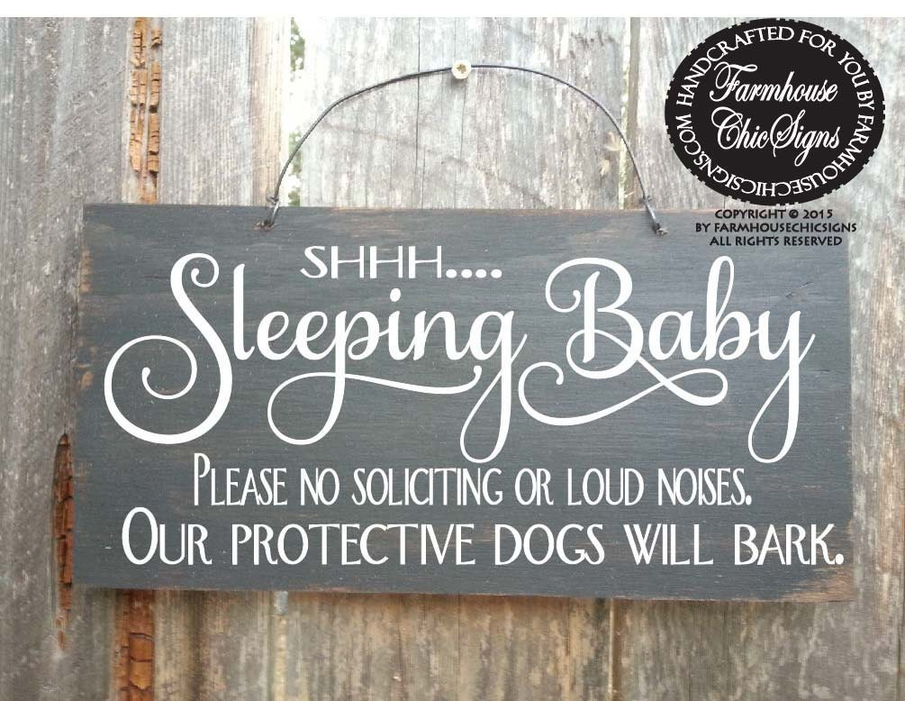 Baby Sleeping Sign Baby Shower Gift Baby Signs Do Not Ring