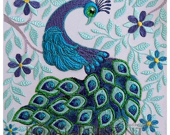 Machine Embroidery Design Royal Peacock