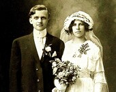 Edwardian Wedding Photograph Cabinet Card Antique
