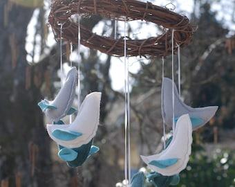 Blues Skies Bird Mobile