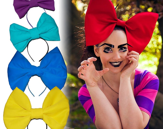 Featured listing image: Wonderland Oversized 'Alice Bow' headband