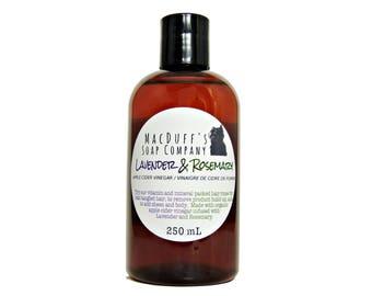 Apple Cider Vinegar Hair Rinse - Lavender - Rosemary - Natural - Vegan - Herbal - Infused
