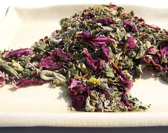 Fairytale Gift RAW Sun Dried Fairy Blend - Culinary Herbs & Flower Mix - Organically Grown, Hand Harvested - Edible Blossoms - Organic Herbs