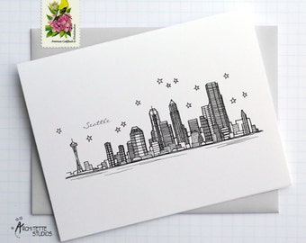 Seattle, Washington - United States - Instant Download Printable Art - City Skyline Series